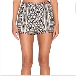 Tularosa pattern high waisted shorts small
